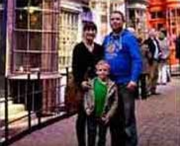 Harry Potter studio with family